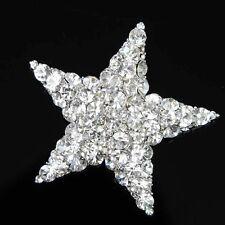 Wedding Bridal Jewelry Crystal Brooch Star Fashion Rhinestone Silver Plated New