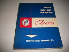 1961 BUICK LeSABRE INVICTA ELECTRA  ORIGINAL CHASSIS SERVICE SHOP MANUAL CLEAN