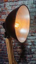 Tripod Retro Stativ Steh Lampe Loft Bauhaus Holz Dreibein silber schwarz NEU