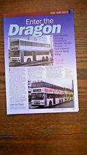 Dennis Dragon Condor bus Hongkong article Ephemera 3 page sides cutting