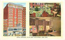 HOTEL PEERLESS, 45th STREET, MANHATTAN, NEW YORK CITY, VINTAGE POSTCARD