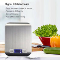 Digital Kitchen Scale Lcd Electronic Cooking Food Weighing Scale 11Lb/5Kg X1G CO