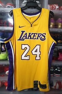 Nike Kobe Bryant Swingman Jersey LA Lakers AQ2109-728 58 Size XXL Yellow Gold