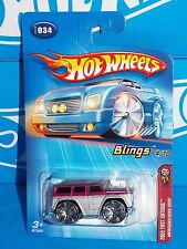 Hot Wheels 2005 First Editions Blings #34 Mercedes-Benz G500 Silver & Burgundy