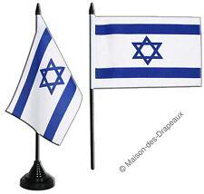 Drapeau de table ISRAEL, MINI DRAPEAU  Qualité TOP 10x15cm