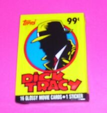 1 SEALED PACKAGE DICK TRACY 16 TRADING CARDS & 1 STICKER TOPPS