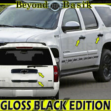 07-14 CHEVY TAHOE SUBURBAN GLOSS BLACK Upper & Lower Liftgate+Door Handle COVERS