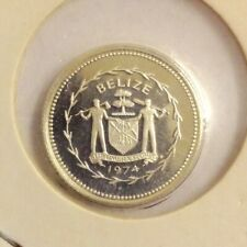 Three Silver Proof Belize coins all dated for 1974 and in a proof condition