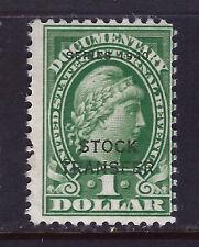 Bigjake: RD54, $1.00 Stock Transfer, Series of 1940, MNH