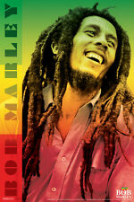 Bob Marley Laughing Portrait Reggae Color Poster 12x18 inch