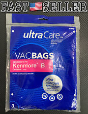 Pack Of 3 Kenmore B 85003 Ultra Care Vacbags Ultra Allergen Filtration *SEALED*