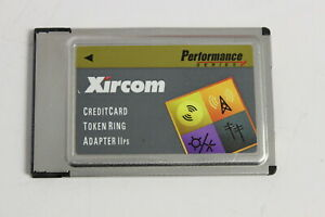 XIRCOM PS-CT2-16 CREDITCARD TOKEN RING ADAPTER IIPS PCMCIA NO CABLES