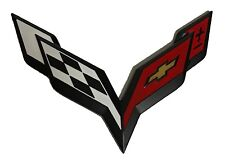 x1 New Black / Red Corvette Emblem StingRay Z06 C4 C5 C6 C7 ZR1 LS3 LS7