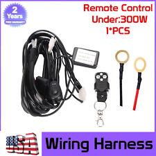 Remote Control Wiring Harness Kit Strobe Switch Relay Led Work Light Bar 72/300W