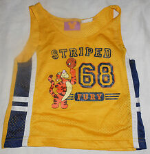 Disney Tigger Basketball Tank Top Mesh Team Jersey Striped Fury 68 24 Months