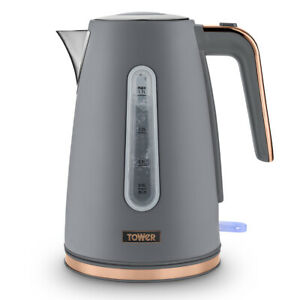 Tower Cavaletto Kitchen 1.7L 3KW Jug Kettle Grey and Rose Gold Accents