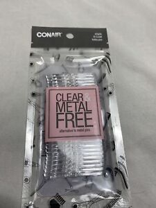 Conair Clear & Metal Free Bobby Pins, 25 count
