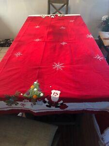 Beutiful Pottery Barn kids 70 X 90 Christmas Tablecloth