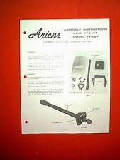 ARIENS REAR PTO ATTACHMENT S-12 S-14 S-16 TRACTORS MODEL 731007 ASSEMBLY MANUAL