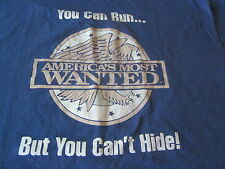 Americas Most Wanted Vintage Tee Shirt You Can Run But You Cant Hide 90 Large