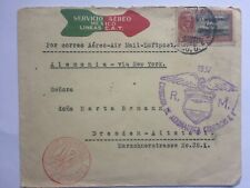 MEXICO 1931 Air Mail cover to Dresden + Berlin, Paris marks and cachets