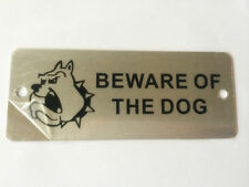 Warning Sign. BEWARE OF THE DOG, ENTER AT OWN RISK. Wall-Mount, Self-Adhesive S.