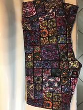LuLaRoe TC Leggings Beauty Beast goth stained glass black pink purple ~UNICORN~