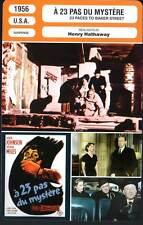 A 23 PAS DU MYSTERE - Miles,Hathaway(Fiche Cinéma) 1956-23 Paces to Baker Street