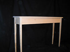 """Unfinished 46"""" Console, Sofa,Foyer Beveled Edge 11""""deep Pine Table Tapered Legs"""