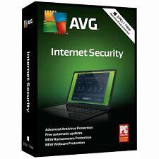 AVG Internet Security Windows 3 PCs 1 Year Subscription - NEW™