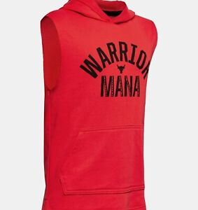 UNDER ARMOUR Boys' Project Rock Warrior graphic sleeveless hoodie - NWT