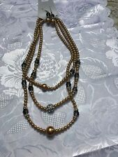 Faux Pearl, Beads And Diamond Necklace And Earring Set!