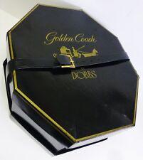 Antique DOBBS Golden Coach Derby Hat Box Octagon Black Vintage Advertising