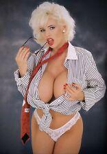 SARENNA LEE - SET OF 10 SEXY 12x8 PHOTO PRINTS - BUSTY PORN MODEL