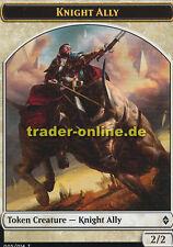 2x Token - Knight Ally (Spielstein - Ritter, Verbündeter) Battle for Zendikar Ma