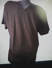 The Favourites T-Shirt Shirt dunkelkhaki kurzarm Gr. L V-Ausschnitt  .         S