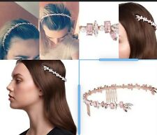 $149 💗Rendezvous Halo Racer New Headband Fascinator Hair Pin Clip Tie