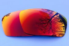 POLARIZED RUBY REDCUSTOM MIRRORED REPLACEMENT OAKLEY SQUARE WHISKER LENSES