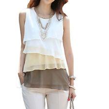 New Women's Chiffon Sleeveless Summer Loose Casual Shirt Tank Tops Vest Blouse