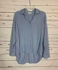 Umgee USA Boutique Women's S Small Blue Long Sleeve Cute Fall Tunic Top Shirt
