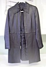 Frenchi Size S Genuine Lambskin Leather Coat Black Womens