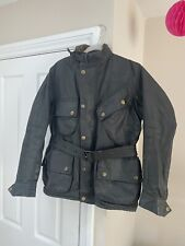 VTG J BARBOUR & SONS  INTERNATIONAL  A7 WAXED COTTON MOTORCYCLE JACKET Size 38""