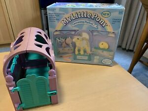 Vintage G1 Hasbro Kisscurl Grooming Parlour My Little Pony 1987 Incomplete Boxed