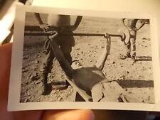 VINT SNAPSHOT PHOTO, ASIAN YOUNG MAN PUMPS IRON W BLACK & WHITE SOLDIER WATCHING