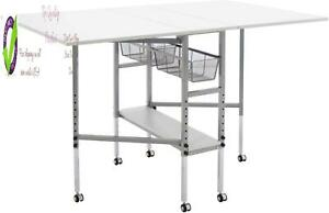 Studio Designs Sew Ready Mobile Height Adjustable Hobby And Craft Cutting Table