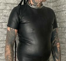 Heavy Rubber Top T Shirt Latex Gay Fetish Goth Lad Medium U.K. Made Invincible