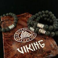 Icelandic Runes Lava Bracelet - Runic Viking Bracelet - Trolls of Iceland