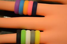 Silicone Wedding Ring Rubber Flexible Band 5MM or 8MM Sizes 5-14 FREE SHIPPING!!