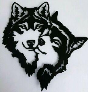 1x Wolf Wolves Love Vinyl Sticker Decal Graphic Window Bumper Car Van 6in Black