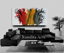 Multicolored abstract painting modern art by Nandita